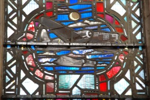 Stained Glass window honoring the Royal Air Force