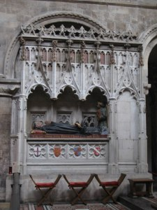 tomb of Rahere, in St. Bartholomew the Great, Smithfield, London.  Photo by Mike Quinn [CC-BY-SA-2.0 (http://creativecommons.org/licenses/by-sa/2.0)], via Wikimedia Commons